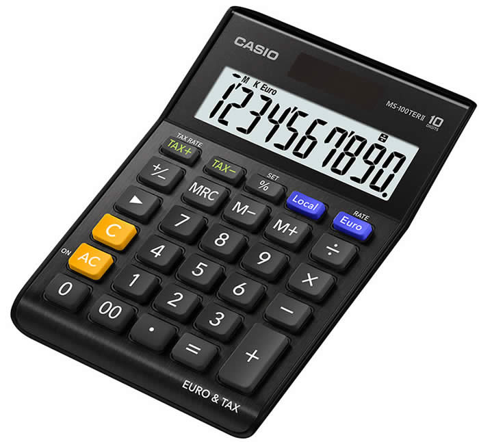 CALCULADORA CASIO MS-100 TER 10 DIGITOS (MS-100TER II BK)